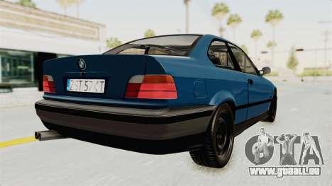 BMW 325i E36 pour GTA San Andreas vue de droite