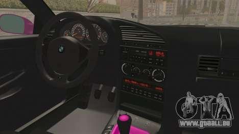 BMW M3 E36 Beauty pour GTA San Andreas vue intérieure