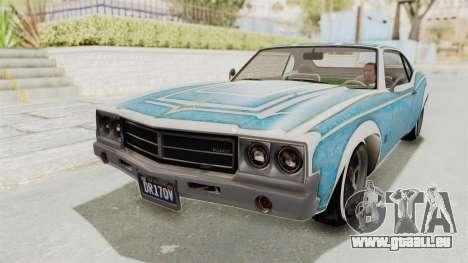 GTA 5 Declasse Sabre GT2 B pour GTA San Andreas moteur