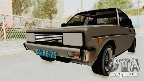Fiat 131 Supermirafiori 1977 pour GTA San Andreas vue de droite