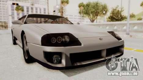 Jester Supra pour GTA San Andreas sur la vue arrière gauche