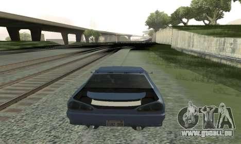 Standard Élégie avec un aileron rétractable pour GTA San Andreas sur la vue arrière gauche