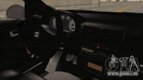 Seat Leon CupraR 2003 pour GTA San Andreas vue intérieure