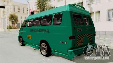 Dodge Ram Van Microbus 1977 für GTA San Andreas zurück linke Ansicht