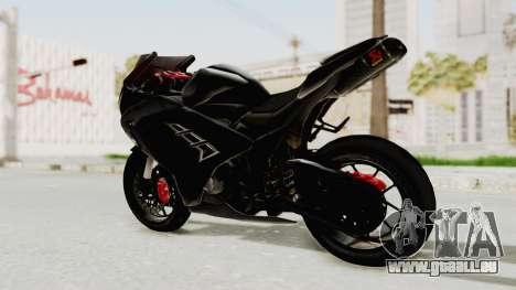 Kawasaki Ninja 300 FI Modification für GTA San Andreas zurück linke Ansicht