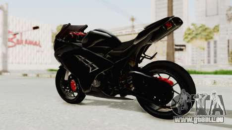 Kawasaki Ninja 300 FI Modification pour GTA San Andreas sur la vue arrière gauche