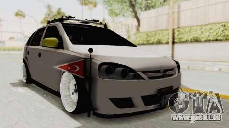 Opel Corsa pour GTA San Andreas vue de droite