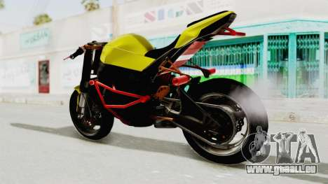 Kawasaki Ninja ZX-10R Nakedbike Stunter pour GTA San Andreas vue de droite