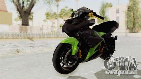 Yamaha MX King 150 Modif 250 GP pour GTA San Andreas sur la vue arrière gauche