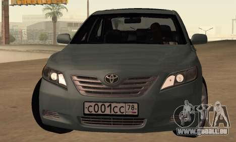 Toyota Camry 2007 pour GTA San Andreas laissé vue