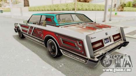 GTA 5 Dundreary Virgo Classic Custom v3 pour GTA San Andreas vue de dessous