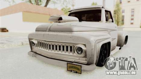 GTA 5 Slamvan Lowrider PJ1 für GTA San Andreas Rückansicht
