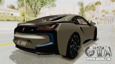 BMW i8-VS 2015 für GTA San Andreas zurück linke Ansicht
