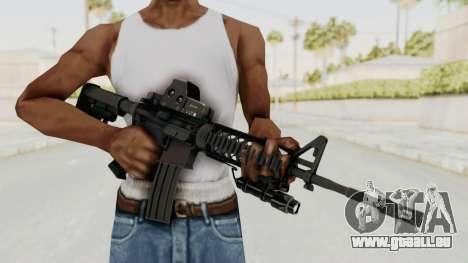AR-15 with Eotech 552 and Flashlight pour GTA San Andreas troisième écran