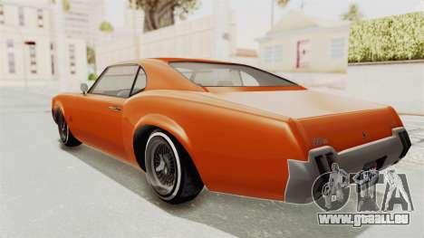 GTA 5 Declasse Sabre GT2 B für GTA San Andreas linke Ansicht