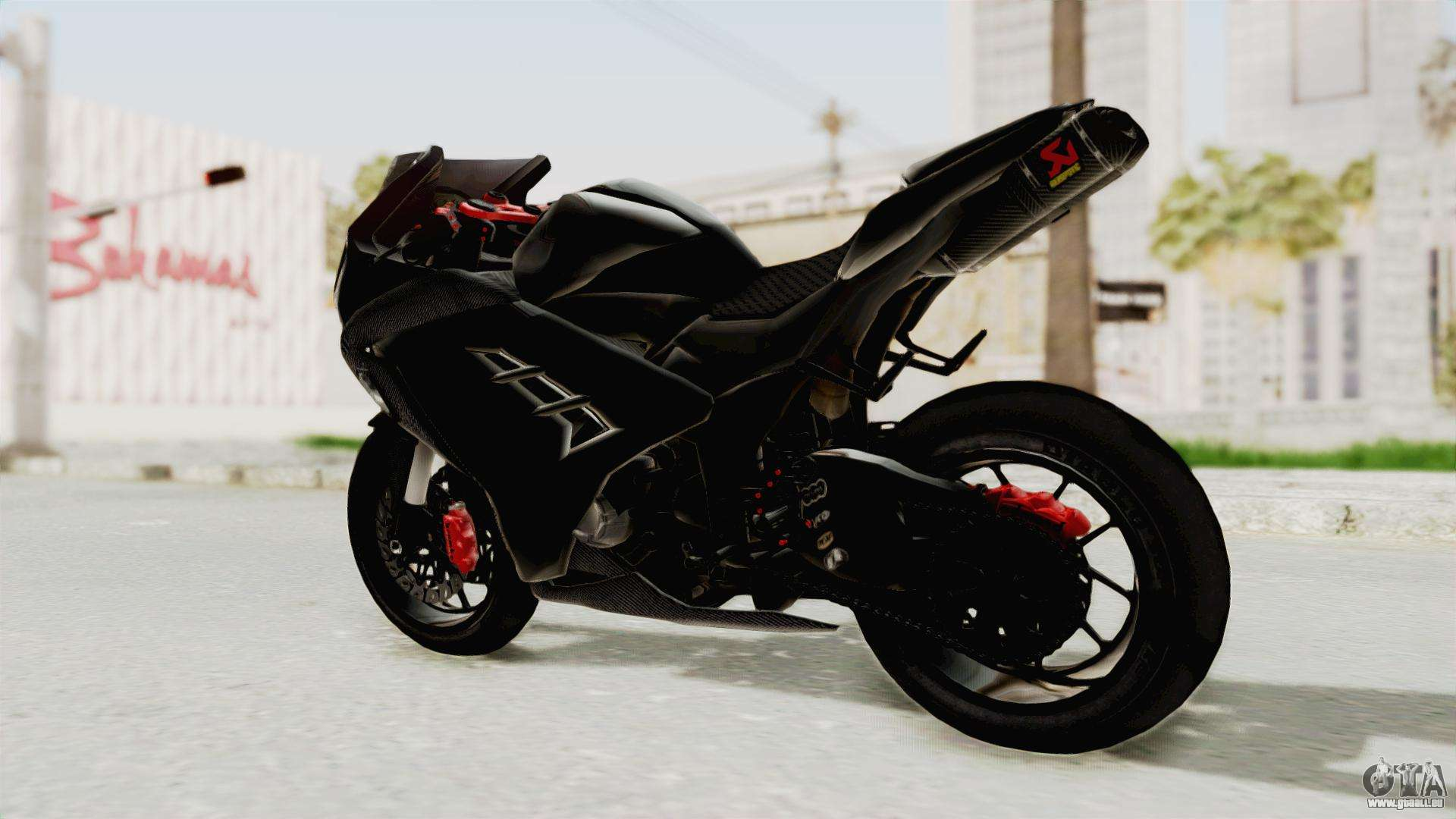 kawasaki ninja 300 fi modification pour gta san andreas