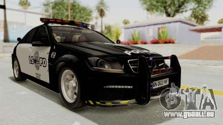 Mercedes-Benz C63 AMG 2010 Police v2 pour GTA San Andreas