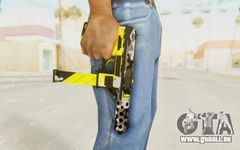 Tec-9 Neural Yellow für GTA San Andreas dritten Screenshot