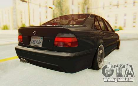 BMW M5 E39 M-Tech USDM pour GTA San Andreas sur la vue arrière gauche