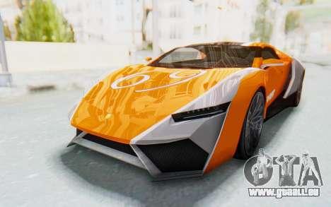 GTA 5 Pegassi Reaper SA Lights pour GTA San Andreas vue arrière