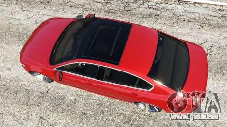 GTA 5 Volkswagen Passat Highline B8 2016 Stanced Rückansicht