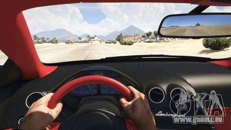 GTA 5 Lamborghini Reventon 7.1 vue arrière