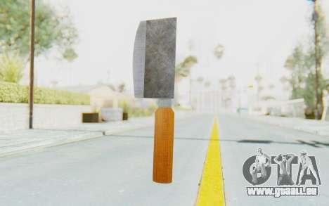 Butcher Knife pour GTA San Andreas deuxième écran