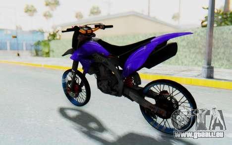 Kawasaki KLX150S Thailock Style für GTA San Andreas rechten Ansicht