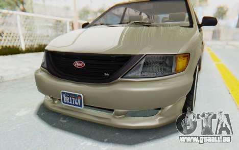 GTA 5 Vapid Minivan Custom without Hydro IVF für GTA San Andreas obere Ansicht