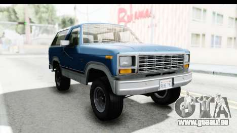 Ford Bronco 1980 Roof pour GTA San Andreas