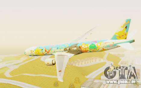 Boeing 777-300ER ANA JA754A - Peace Jet für GTA San Andreas linke Ansicht