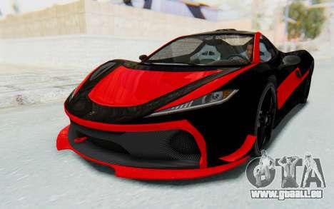 GTA 5 Progen T20 Devil PJ für GTA San Andreas Seitenansicht