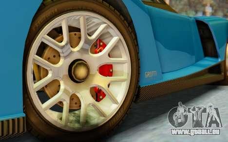 GTA 5 Grotti Cheetah SA Lights pour GTA San Andreas sur la vue arrière gauche