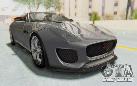 Jaguar F-Type Project 7 pour GTA San Andreas sur la vue arrière gauche