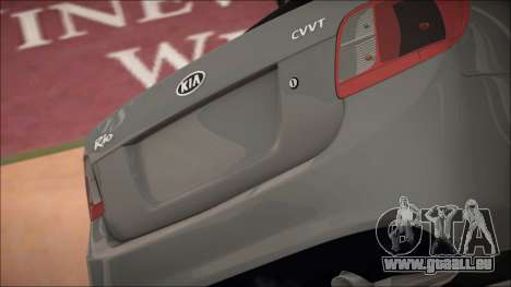 Kia Rio für GTA San Andreas Innenansicht