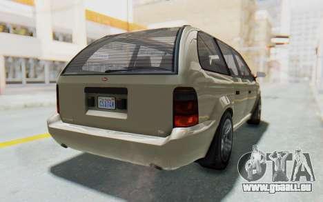 GTA 5 Vapid Minivan IVF für GTA San Andreas rechten Ansicht