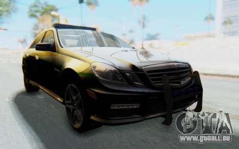 Mercedes-Benz E63 German Police Green pour GTA San Andreas vue de droite