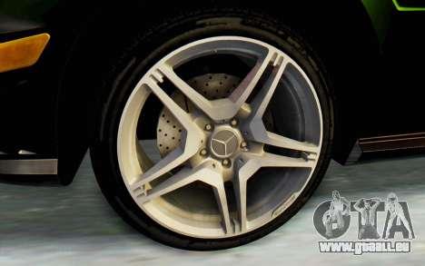 Mercedes-Benz E63 German Police Green pour GTA San Andreas vue arrière