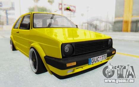 Volkswagen Golf Mk2 Lemon pour GTA San Andreas vue de droite