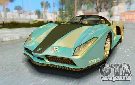 GTA 5 Grotti Cheetah SA Lights pour GTA San Andreas salon