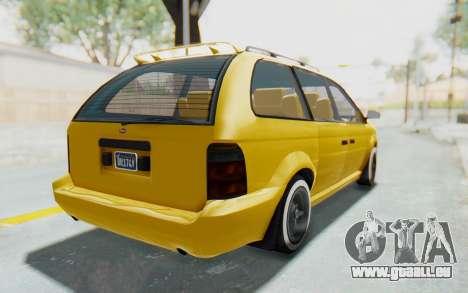 GTA 5 Vapid Minivan Custom IVF pour GTA San Andreas sur la vue arrière gauche