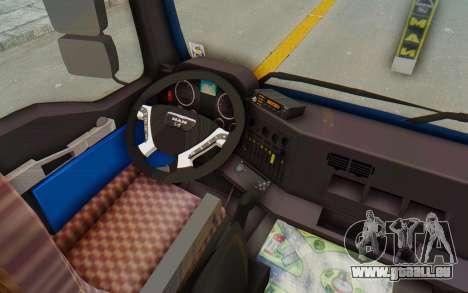 MAN TGA Energrom Edition v1 pour GTA San Andreas vue intérieure