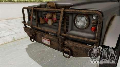 GTA 5 Canis Bodhi Trevor IVF pour GTA San Andreas vue intérieure