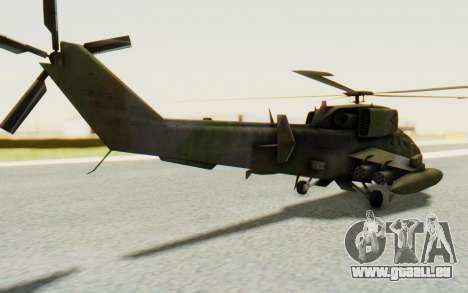 WZ-19 Attack Helicopter pour GTA San Andreas laissé vue
