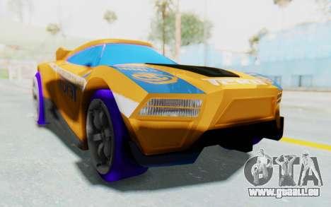 Hot Wheels AcceleRacers 4 für GTA San Andreas rechten Ansicht