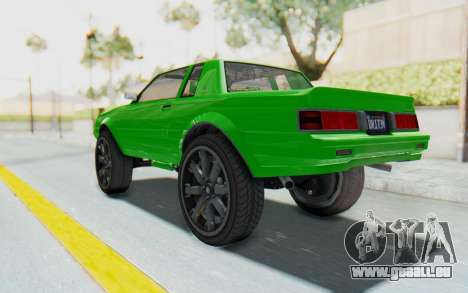 GTA 5 Willard Faction Custom Donk v3 für GTA San Andreas linke Ansicht