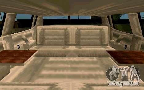 Tahoma Limousine v2.0 (HD) pour GTA San Andreas vue intérieure