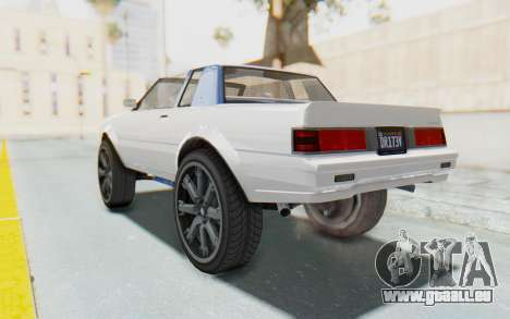 GTA 5 Willard Faction Custom Donk v2 pour GTA San Andreas laissé vue