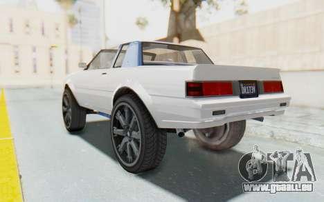 GTA 5 Willard Faction Custom Donk v2 für GTA San Andreas linke Ansicht