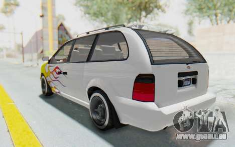 GTA 5 Vapid Minivan Custom without Hydro pour GTA San Andreas roue